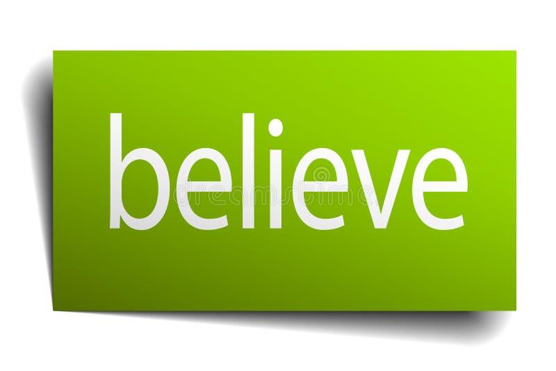 Wierzy Znaka ilustracji