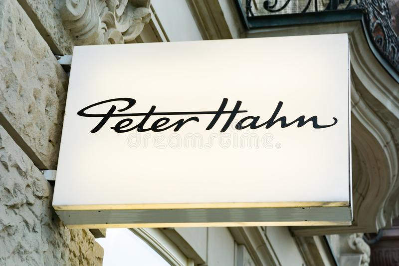 PETER HAHN Logo stock photos