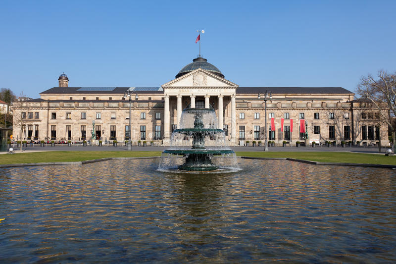 Download The Wiesbaden Kurhaus stock photo. Image of fountain - 19127070