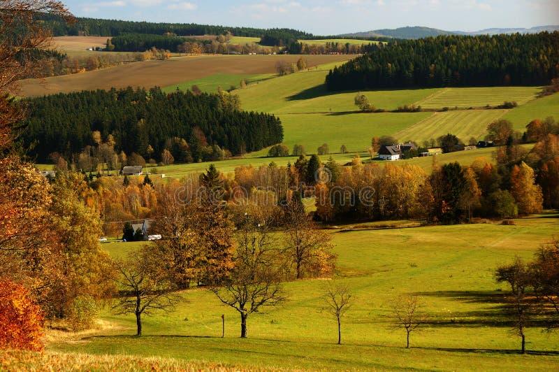 Wiese der tschechischen Landschaft lizenzfreies stockbild