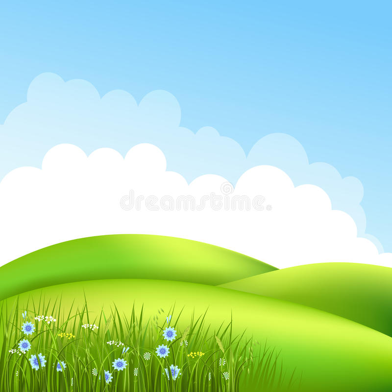 Wiese mit Gras 2 stock abbildung