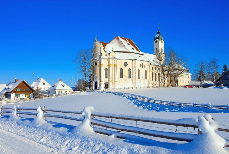 Wieskirche royalty-vrije stock afbeelding