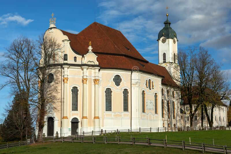 Wieskirche jesienią zdjęcie royalty free