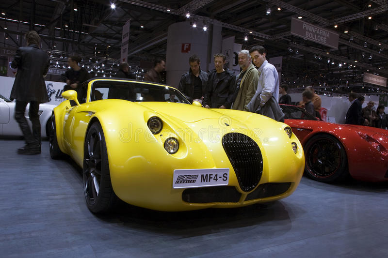 Wiesmanm MF4-s Roadster. At the 80th edition of the Geneva motor show in Switzerland. Photo taken: March 06, 2010 stock image