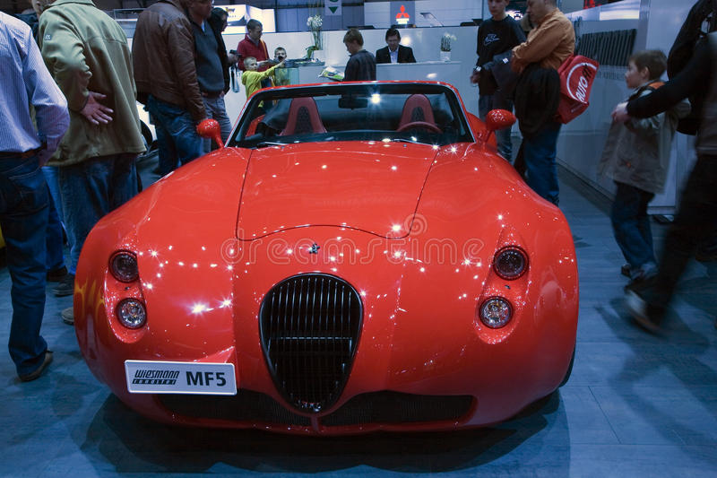 Wiesmanm MF5 Roadster. At the 80th edition of the Geneva motor show in Switzerland. Photo taken: March 06, 2010 stock photos