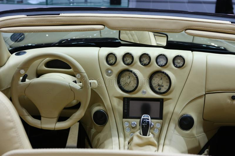 Wiesmann MF4 Roadster Cockpit royalty free stock photos