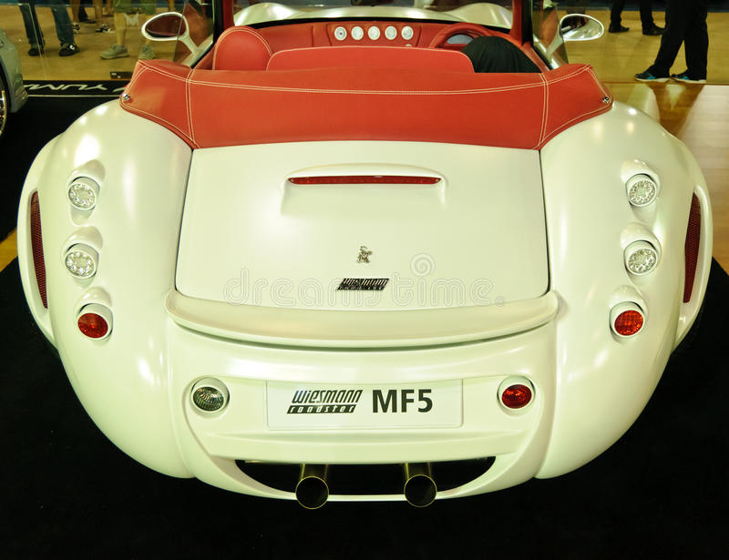 Wiesmann Roadster MF5. NONTABURI,THAILAND-MAY 21: Wiesmann Roadster MF5 on display at the Super Car & Import Car Show on May 21,2011 in Nontaburi, Thailand stock images