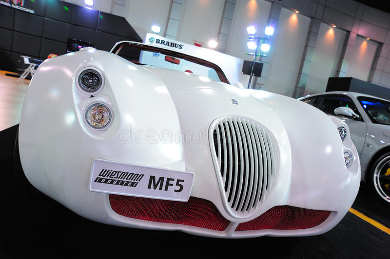 Wiesmann Roadster MF5. NONTHABURI, THAILAND - MAY 21: The Wiesmann Roadster MF5 in Supercar & Import car Show on May 21, 2011 in Nonthaburi, Thailand stock photos