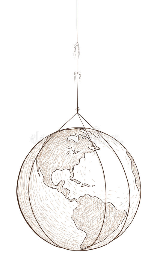 wieszający świat ilustracji