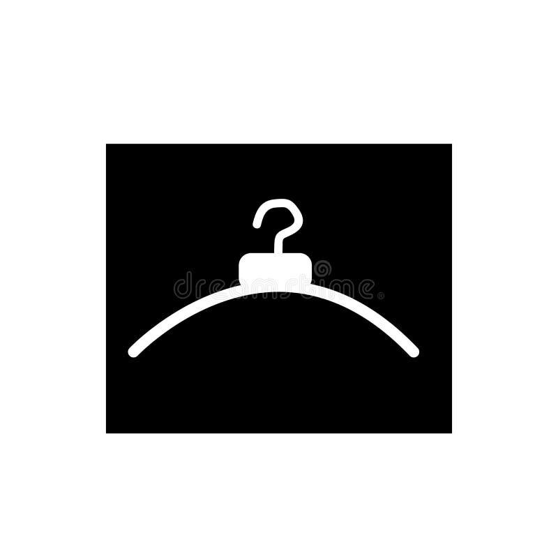 Wieszak ikony wektor odizolowywający na białym tle, wieszaka znak ilustracji