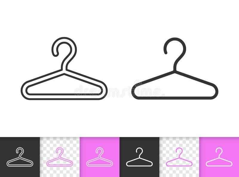 Wieszak mody czerni linii wektoru prosta ikona royalty ilustracja
