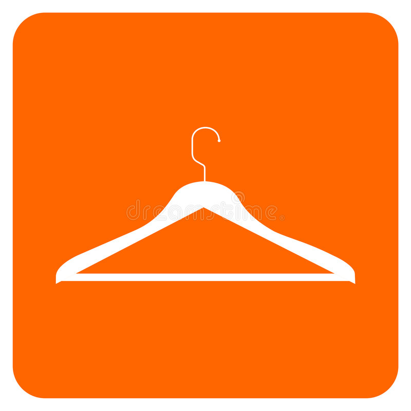 wieszak odzieżowa ikona ilustracji