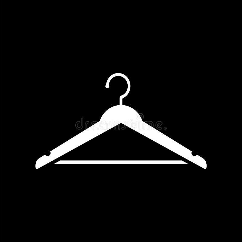 Wieszak szyldowa ikona, Cloakroom symbol na ciemnym tle ilustracji
