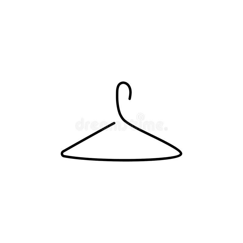 Wieszaka wektoru linii ikona Prosta element ilustracja wieszaka konturu ikona od hotelowego pojęcia Mo?e u?ywa? dla sieci i royalty ilustracja