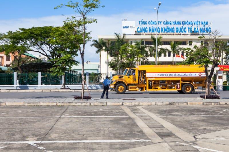 Wietnam Danang lotniska międzynarodowego cysterna fotografia royalty free