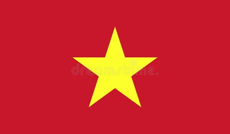 Wietnam flaga wizerunek ilustracja wektor