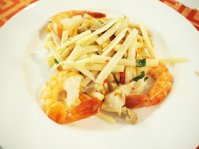 Wietnam korzenny jedzenie - garnela fotografia stock