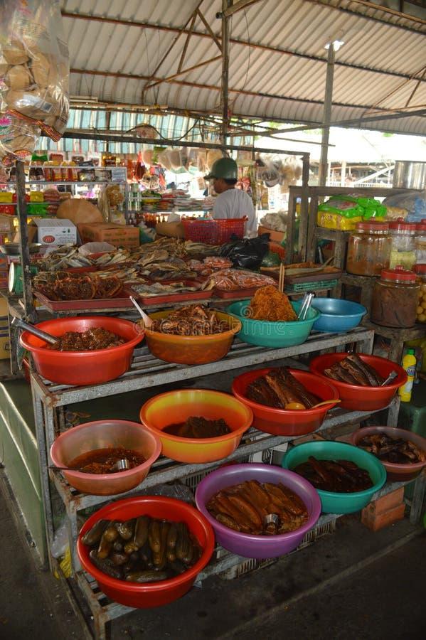 Wietnam - Mekong delta Może Tho rynek zdjęcie stock