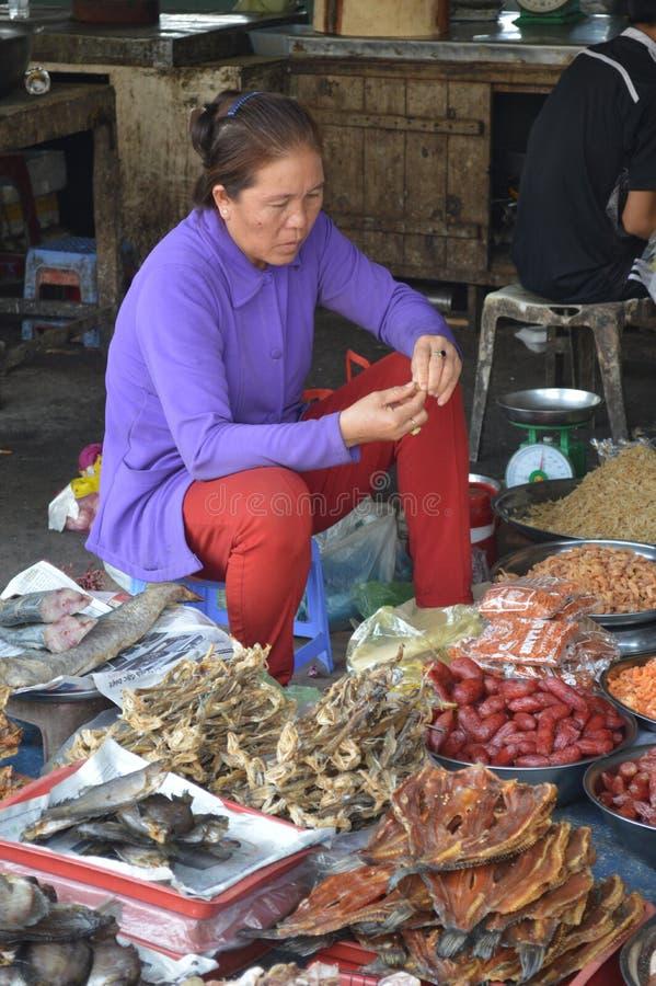 Wietnam, Mekong delty cho - binh rynek obraz royalty free