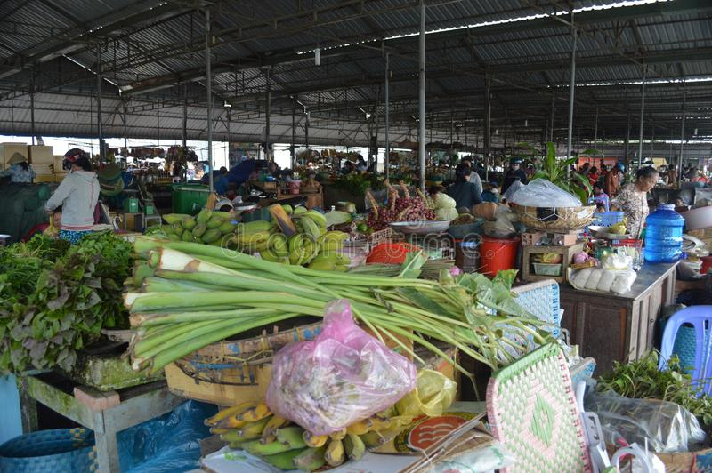 Wietnam, Mekong delty cho - binh rynek obrazy royalty free