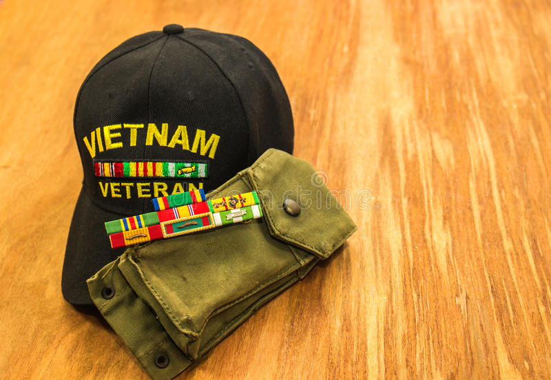 Wietnam weterana faborki Z magazynu właścicielem zdjęcia stock