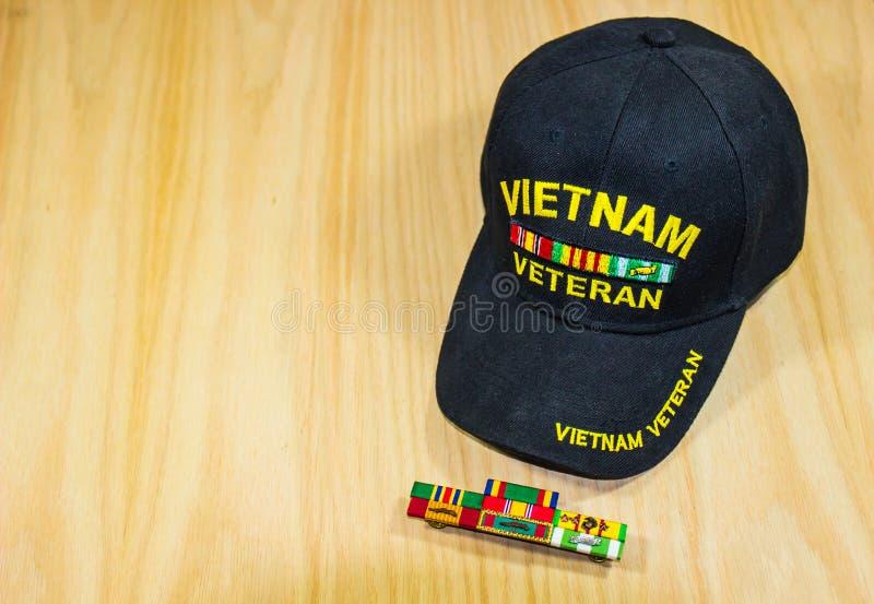 Wietnam weterana Kapeluszowi & Usługowi faborki zdjęcia royalty free