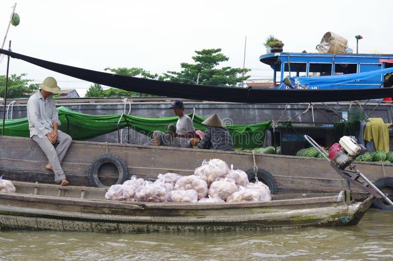 Wietnamczyka Mekong delta fotografia royalty free