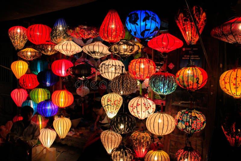 Wietnamscy lampiony w Hoi zdjęcia stock