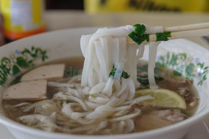 Wietnamscy ryżowego kluski Pho dziąsła zdjęcie stock