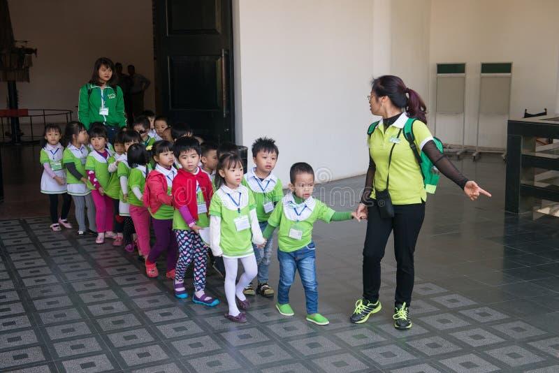 Wietnamscy ucznie, Wietnam podróż obrazy royalty free