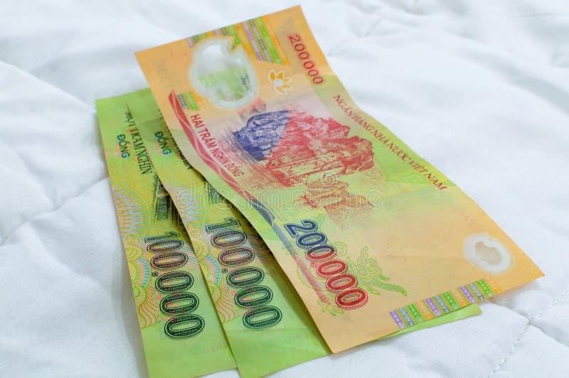 Wietnamscy waluty Dong banknoty obrazy royalty free