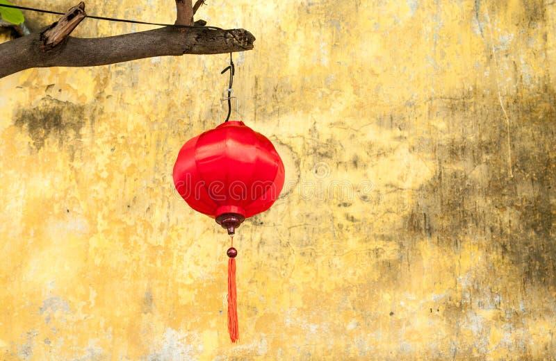 Wietnamski czerwony jedwabniczy lampion zdjęcia stock