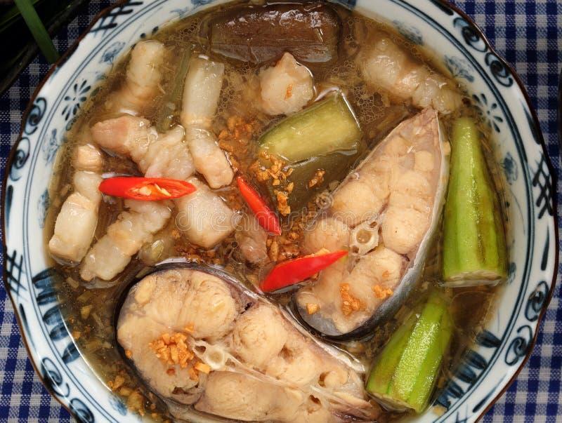 Wietnamski jedzenie dla dziennego posiłku, mama kho obrazy royalty free