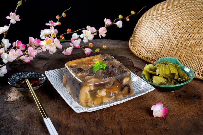Wietnamski jedzenie dla Tet wakacje galaretowaciejący mięso fotografia royalty free