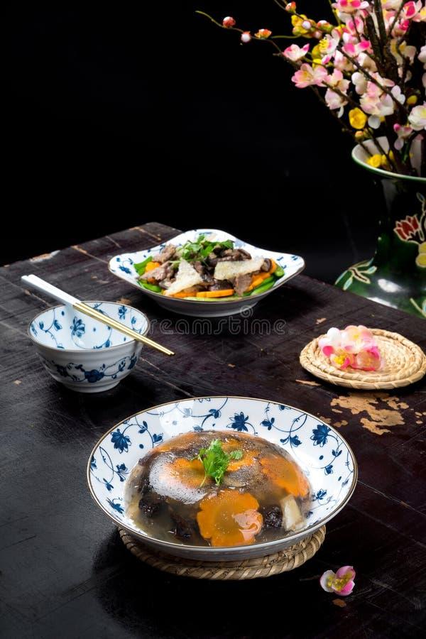 Wietnamski jedzenie dla Tet wakacje w wiośnie galaretowaciejący mięso zdjęcie royalty free