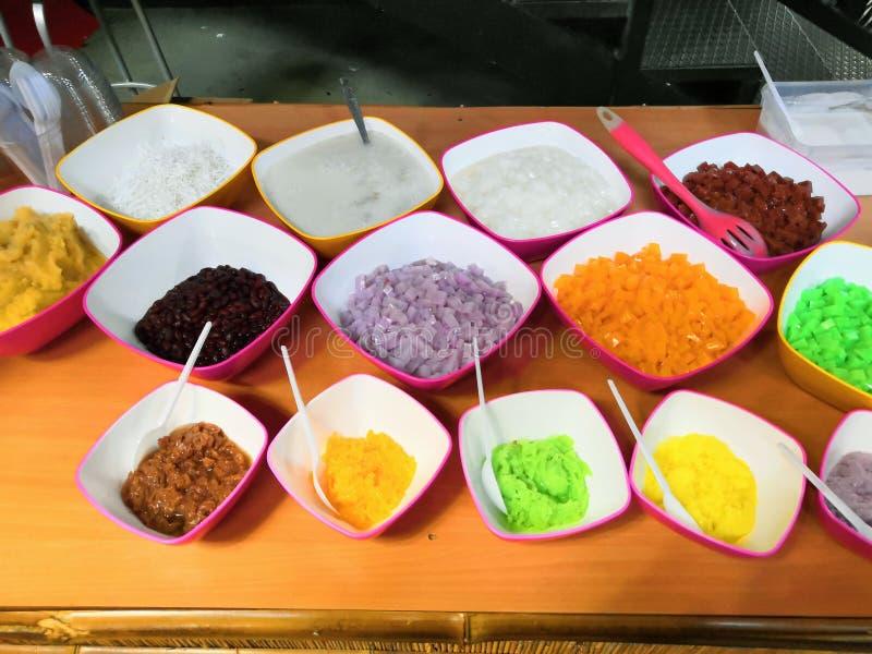 Wietnamski jedzenie dla Tet wakacje w wio?nie, ja jest tradycyjnym jedzeniem na ksi??ycowym nowym roku Wietnamski jedzenie barwią zdjęcie stock