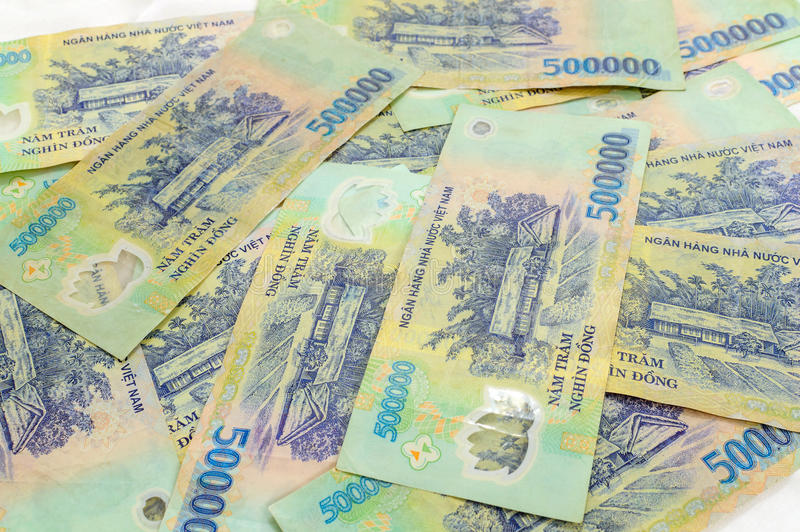 Wietnamski pieniądze Dong obrazy stock