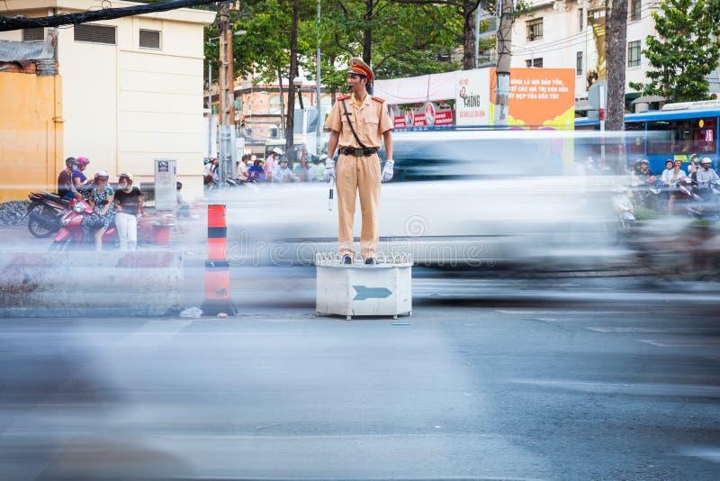 Wietnamski policjant, Ho Chi Minh miasto, Wietnam zdjęcie royalty free