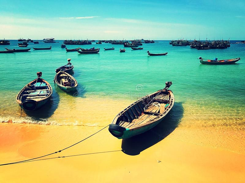 Wietnamskie łodzie obrazy stock