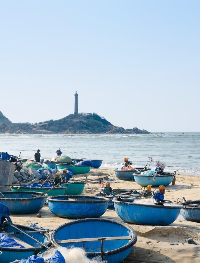 Wietnamskie łodzie rybackie zdjęcia royalty free