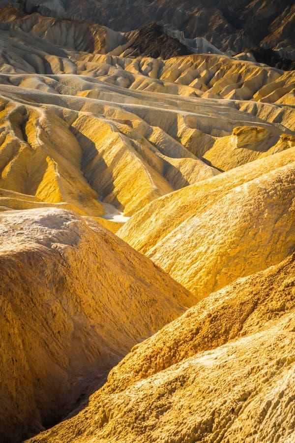 ?wietny pustynia krajobraz w ?miertelnym dolinnym parku narodowym California zdjęcia stock