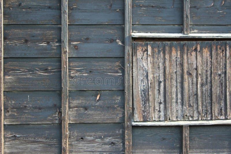 Wietrzejąca zewnętrzna ściana tradycyjny japończyka dom zdjęcia royalty free