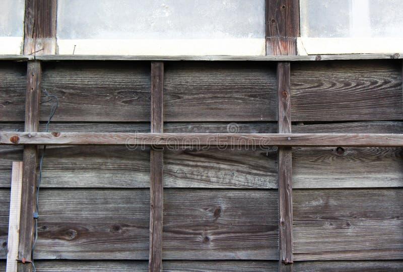 Wietrzejąca zewnętrzna ściana tradycyjny japończyka dom obrazy royalty free