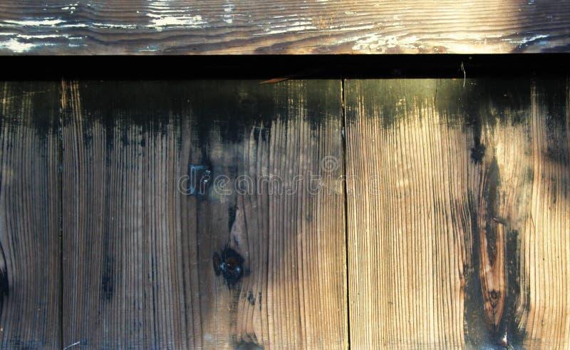 Wietrzejący zewnętrzni drewno panel zdjęcia royalty free