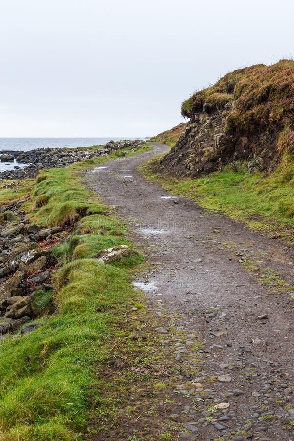 Wietrzna ścieżka obok wybrzeża obrazy royalty free