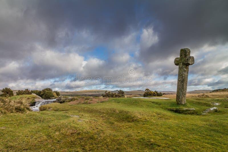 Wietrzna poczta na Dartmoor parku narodowym obraz royalty free