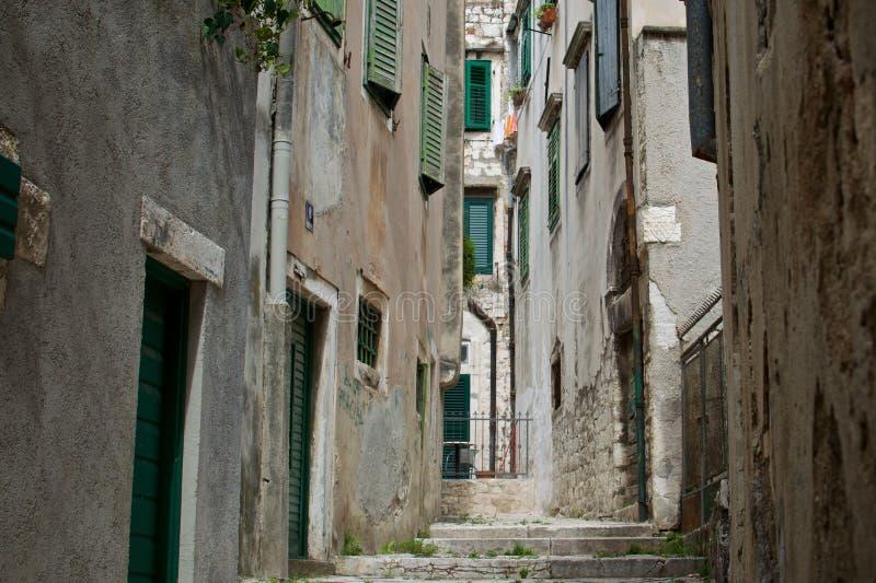 Wietrzny alleyway zdjęcie stock