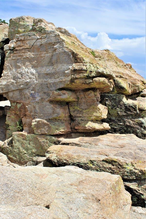 Wietrzny punkt Vista, góra Lemmon, Santa Catalina góry, Lincoln las państwowy, Tucson, Arizona, Stany Zjednoczone fotografia royalty free