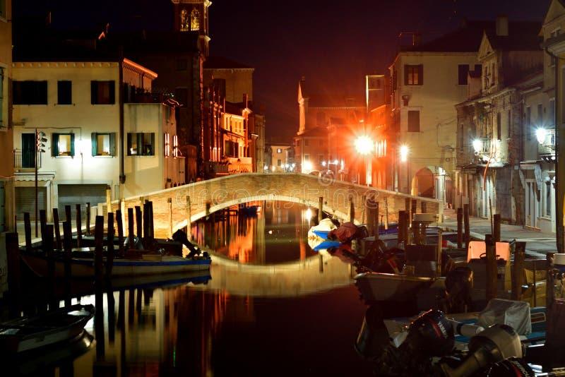 Wiev Chioggia на ноче стоковые изображения rf