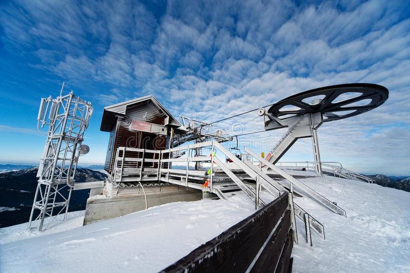 A wiev of a top ski station on chopok royalty free stock photography